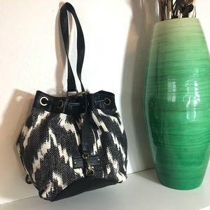 Lucky Brand Bags - Lucky Brand Bucket Bag Black & White Bali Hai Boho